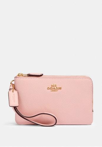 Coach pink Coach Double Corner Zip Wristlet - Blossom 57205ACF463E71GS_1