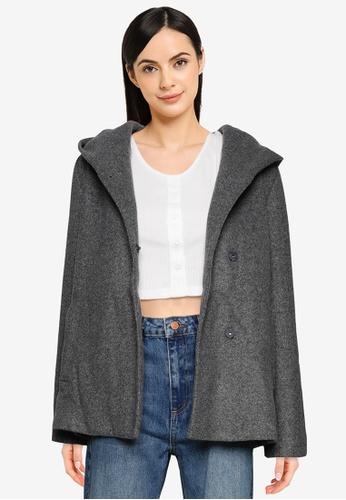 LOWRYS FARM grey Hood Button Coat A47A2AAD32A5A4GS_1
