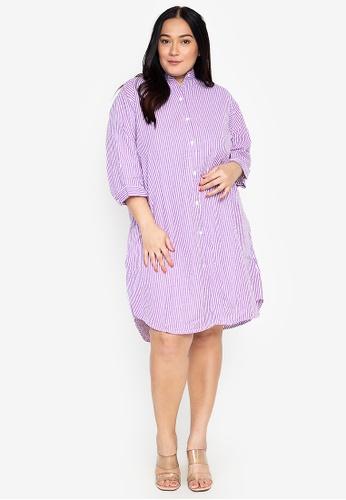 Amelia purple Plus Size Chesca Dress 94FDAAA31F3E9CGS_1