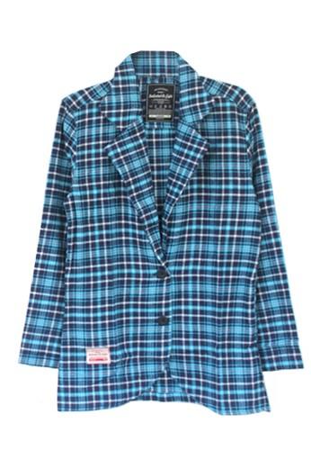 Eight Wardrobe blue Eight Blazer Flanel Plaid B94A1AAD104B03GS_1