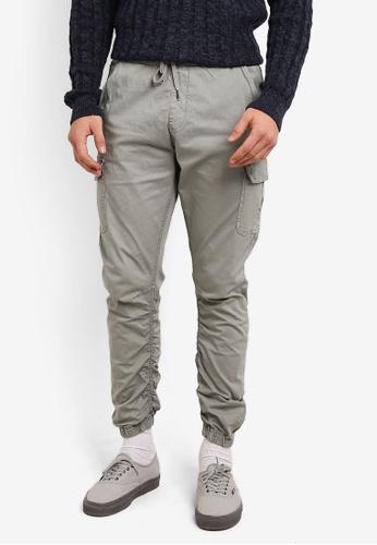 Indicode Jeans grey Lakeland Distress Cargo Joggers IN815AA0ROM7MY_1