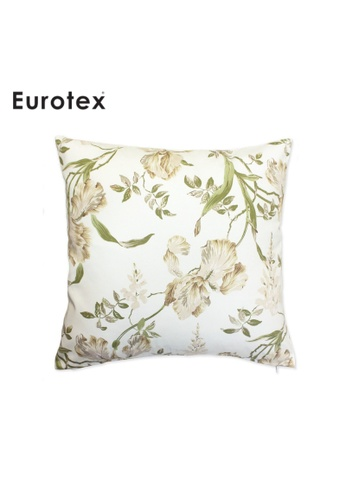Eurotex Eurotex, Cushion Cover, Secret Garden, Moresley, 100% Cotton Fabric made in England - Sage 5D124HL37923BEGS_1