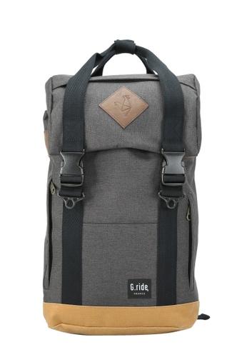 G.ride black and beige Arthur Backpack GR478AC0GKT2SG_1