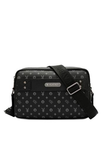 Playboy black Sling Bag 4DE52ACCE3B604GS_1