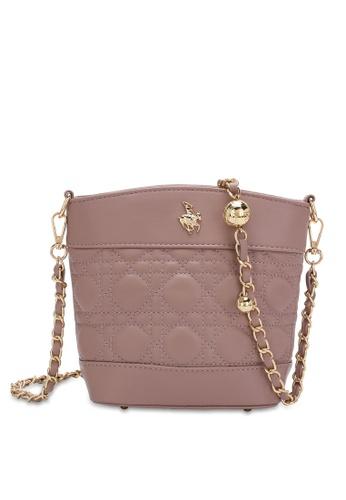 Swiss Polo pink Chain Crossbody Bag 5A8ABAC74215B6GS_1
