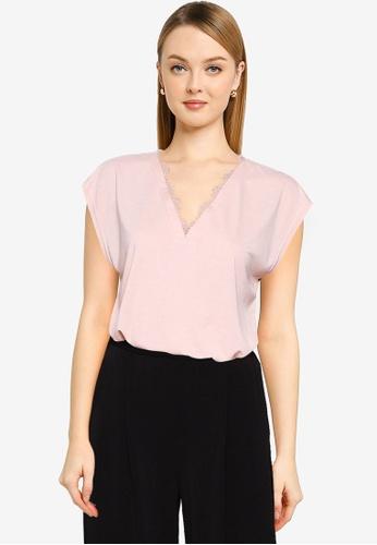 Vero Moda pink Carrie Cap Sleeve Top 1F49CAA86B2491GS_1