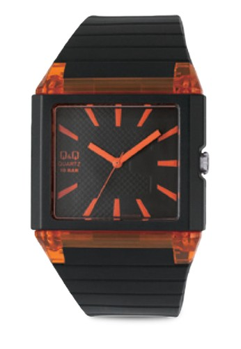 Q&Q GW83J0zalora 內衣04Y 撞色方框手錶, 錶類, 其它錶帶