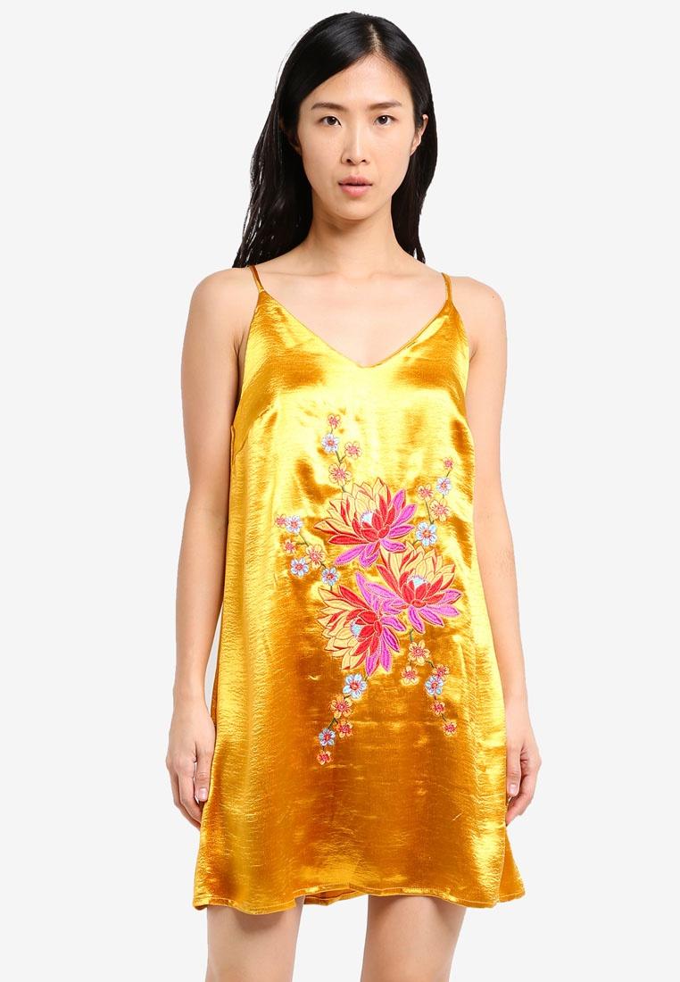 6c74e22ef497 Slip Glamorous Slip Dress Glamorous Yellow Dress Acid Slip Acid Dress  Yellow Glamorous OCwqZ1w ...
