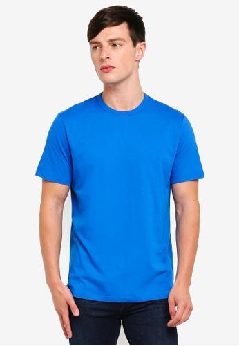 Topman 藍色 經典短袖T恤 4EC7EAA48FD0EBGS_1