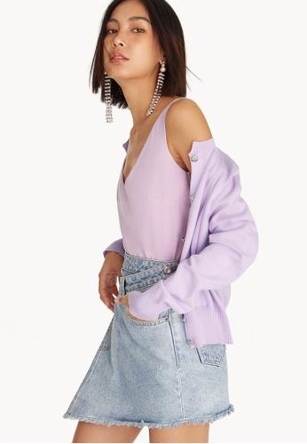 Pomelo purple Open V-Neck Tank Top - Lilac 4B348AA4278301GS_1