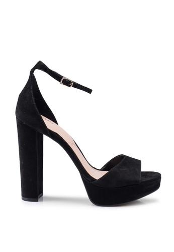 ALDO 黑色 Paeria Peep Toe Ankle Strap Platform Heels 2BB8BSHE4425BEGS_1