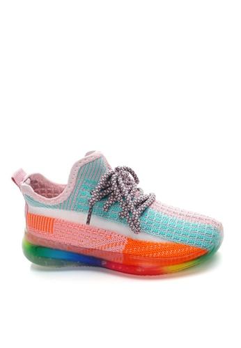 Twenty Eight Shoes pink VANSA Colorblock Knitted Sneaker VSK-TB9 9248CKS993093AGS_1