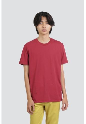 DUE/E red Heinz Tshirt in Maroon 05730AAAA62BAAGS_1