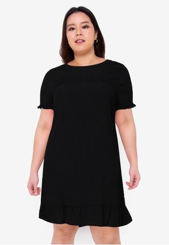 Only CARMAKOMA black Plus Size Lana 2/4 Knee Dress BF431AA7D5718EGS_1
