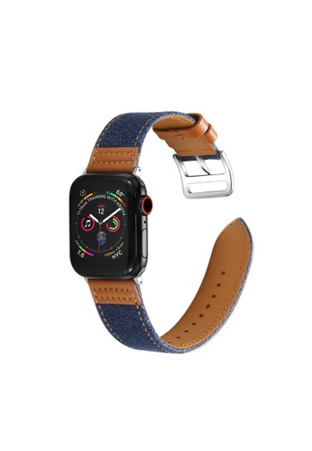 Kings Collection blue Genuine Leather Apple Watch Band 38MM / 40MM (KCWATCH1005) 60DCFACDA4BCC6GS_1