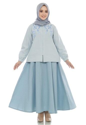 Fayrany blue Fayrany Baju Muslim Setelan Rok Wanita Warna Biru Muda FSR-WW-003 E49BCAAF6A4160GS_1