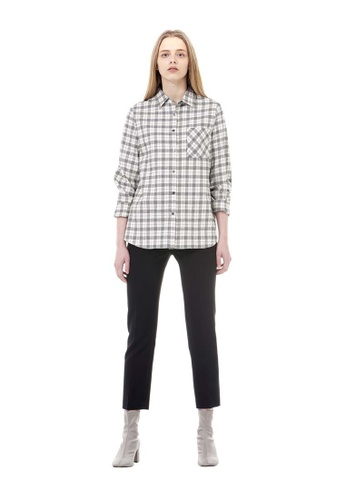 VOV(Voice of Voices) black Black Modern Striped Trousers F906DAAE821EA8GS_1