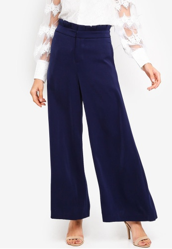 bYSI blue Paperbag Wide Leg Pants 1DA73AA4EF7E6BGS_1