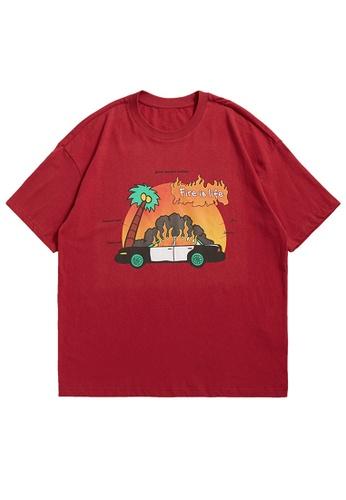 Twenty Eight Shoes Trend Printed Short T-shirt 1658S21 5977CAA5C26AF8GS_1