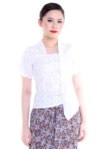 DhieVine Batik white and multi Katarina Lace Putih Kebaya 213DAAA4AE9808GS_1
