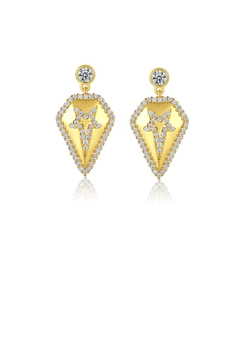 Glamorousky white Fashion Simple Plated Gold Geometric Earrings with Cubic Zirconia 1C833AC64E3D0AGS_1