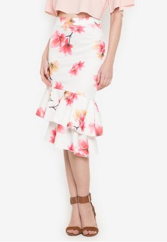 Hug multi Asymmetric Ruffled Skirt HU902AA0JUNIPH_1