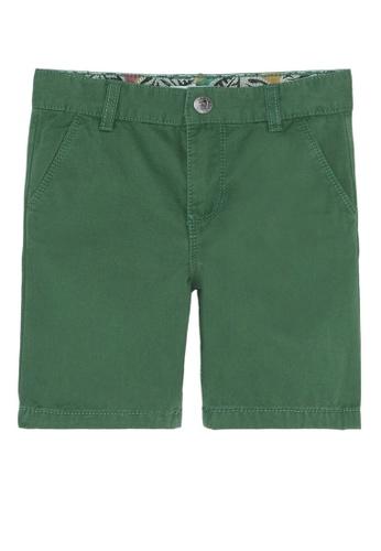 Du Pareil Au Même (DPAM) green Green Bermuda Shorts ED88AKAA3CCF1BGS_1