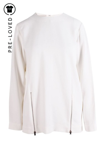STELLA MCCARTNEY white Pre-Loved stella mccartney White Shirt With Zips Details. 3BB60AA203012BGS_1