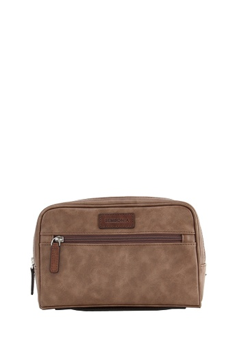 SEMBONIA brown SEMBONIA Men Synthetic Leather Clutch bag (Brown) 8AD1EAC56F64D1GS_1