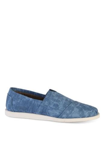 復古刷紋布懶人鞋esprit hk store, 鞋, 懶人鞋