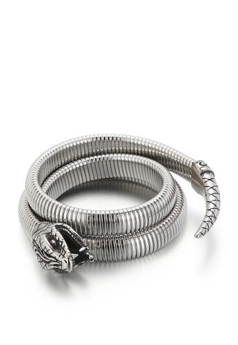 HAPPY FRIDAYS Rattlesnake Titanium Steel Bracelet KL148287 887EAACADF1F72GS_1