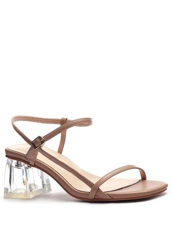 Twenty Eight Shoes Ankle Strap Crystal Heeled Sandals 1801-6 97B13SHD77C830GS_1