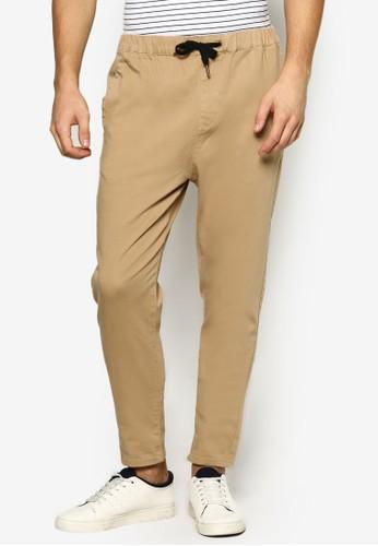 簡約抽繩休閒長褲,esprit分店 服飾, 服飾