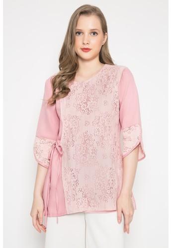 Kasa Heritage pink Yuzu Blouse - Rose Pink 3E458AADEF88F0GS_1