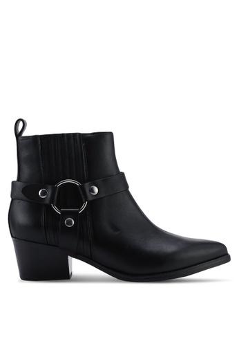 Steve Madden black Powerful Ankle Boot Heels 218D5SH014EF5BGS_1