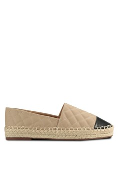 Mindy Quilted Slip On Espadrille Flats
