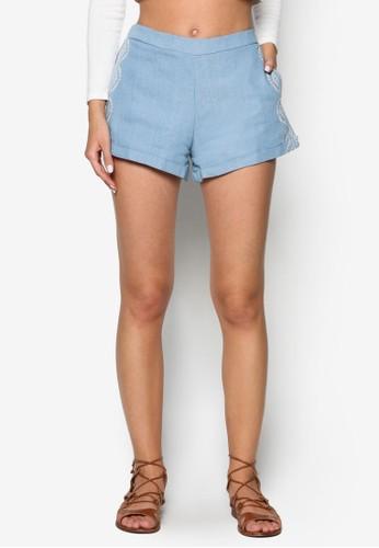 Ezalora 衣服尺寸mbroidered Shorts, 服飾, 短褲