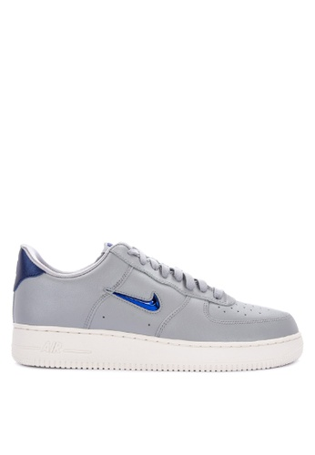Nike grey Air Force 1 '07 Lv8 Leather Shoes 501E3SH3E6CB6FGS_1