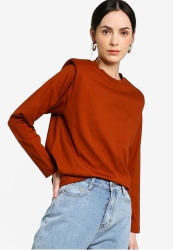 Earth by Zalia Basics orange Organic Cotton Shoulder Pad T-Shirt EF977AAC687F49GS_1
