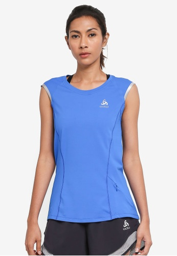 Odlo blue Zeroweight Ceramico BL Sleeveless Top C5513AA7AB7CF5GS_1