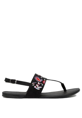 ba7140b89 Buy London Rag Black T-Strap Thong Sandals Online on ZALORA Singapore
