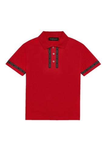 Versace red VERSACE BOYS POLO SHIRT EF44EKA21BC76DGS_1