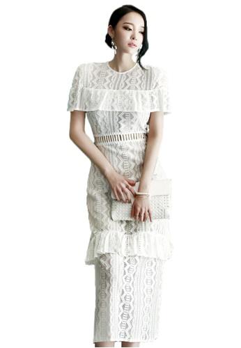 Sunnydaysweety white 2017 Summer New White Vintage Maxi Dress UA071121 SU219AA60QVNSG_1