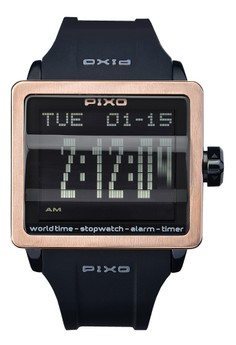 Digital Flip Watch PX-1JSBRBK-02