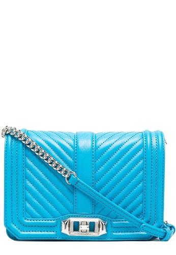 REBECCA MINKOFF blue Rebecca Minkoff Chevron Quilted Small Love Crossbody Bag in Marina BBEE5AC28F8408GS_1