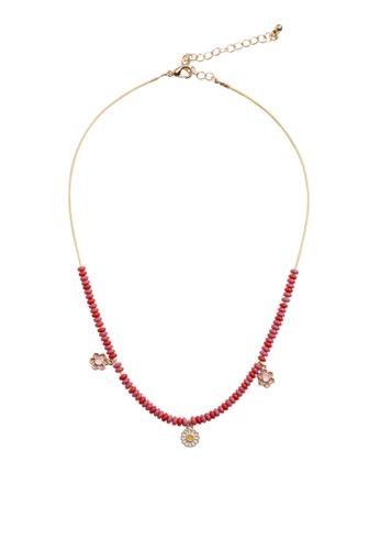 MANGO KIDS pink Flower Beads Necklace 91140KCB5D3D4FGS_1