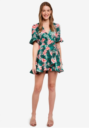 Finders Keepers green Songbird Wrap Dress 1FAC9AA614C66BGS_1