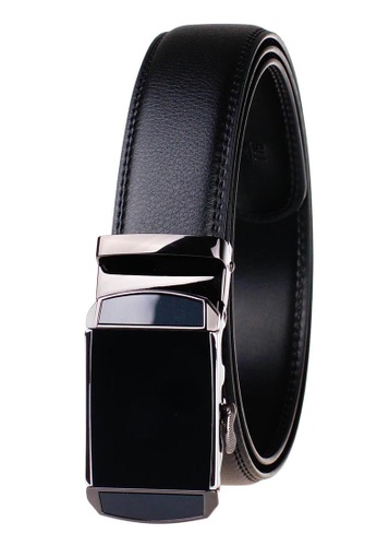 FANYU silver Leather Dress Belt With Automatic Buckle belt 27C4CAC5A2F234GS_1