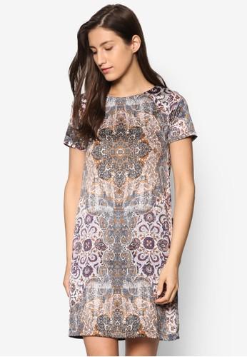 輕量印花迷你連身裙、 服飾、 洋裝ESPRIT輕量印花迷你連身裙最新折價