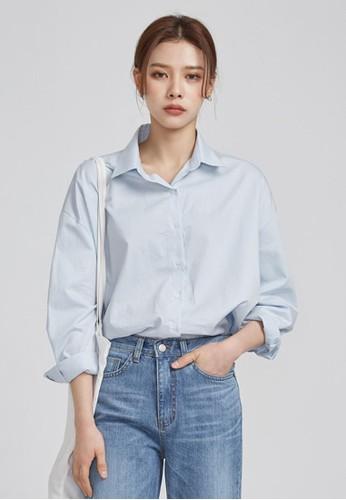 弧形下擺休閒esprit retail襯衫, 服飾, 上衣